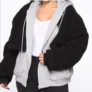 Fashion Nova oversized double jacket